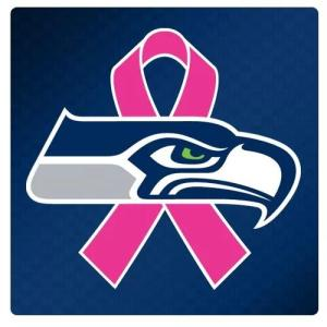 Seattle Seahawks and NFL support breast cancer month